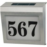 Acier inoxydable énergie solaire numéro de la maison