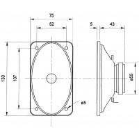 Gamme complète de conducteur ovale 15 W 100 V