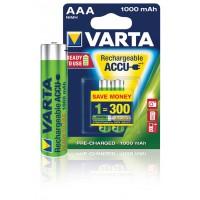 Batteries NiMH AAA/LR03 -1.2 V -1000 Professionnel mAh à 2 ampoules