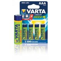 Batteries NiMH AAA/LR03 1.2 V 800 mAh R2U 4-blister