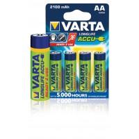 Batteries NiMH AA/LR6 1.2 2100 V mAh R2U 4-ampoules