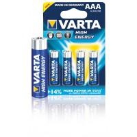 Piles alcalines AAA/LR03 1.5 V haute capacité 4 pieces /boite