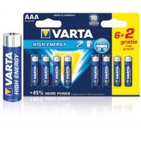 2 piles alcalines AAA/LR03 1.5 V Haute énergie