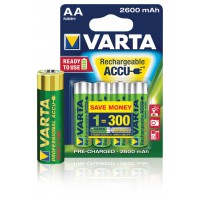 Batteries Ni-MH AA/LR6 1,2 V 2500 mAh R2U Professionel 4-blister