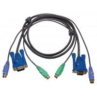 KVM cable VGA + PS/2 1.80 m
