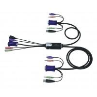 2 ports Hybride KVM commutateur + audio