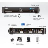 2 port USB 2.0 3D DVI KVMP