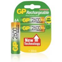 Batterie rechargeable 1V2 aa 2600MaH de NIMH ( 2 paquets)