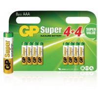 Piles alcalines AAA/LR03 1.5 V Super 8pcs/blister