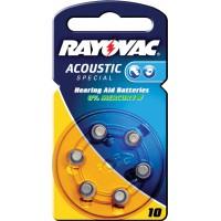 Batteries d'appareil auditif HA10 (6 pcs.)