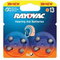 Piles pour aides auditives 1.4 V 290 mAh 8 pcs