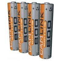 Piles NiMH AAA/LR03 1.2 V 800 mAh Prêt pour l'ampoule
