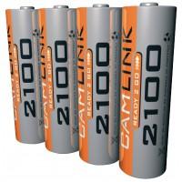 Batteries NiMH AA/LR6 1.2 V 2100 mAh Prêt -2-Go 4-blister