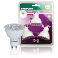 3 ampoules LED GU10 5W 345lm 830