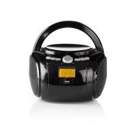 Boombox   9 W   Bluetooth®   Lecteur de CD / Radio FM / USB / Aux   Noir