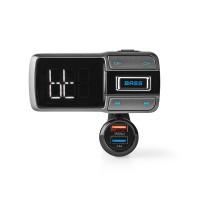 Émetteur FM pour Voiture | Bluetooth® | Amplification des Basses (Bass Boost) | Emplacement pour Carte MicroSD | Appels en Mode