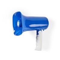 Mégaphone | Technologie Sans Fil Bluetooth® | 115 dB | Portée de 300 m | Bleu/Blanc