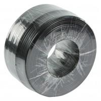 4- conducteurs plats de câble téléphonique : bobine 150 m noir