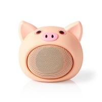 Enceinte Bluetooth Animaticks | 3 heures d'autonomie | Appels en mode mains libres | Pinky Pig