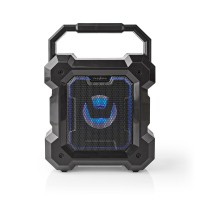 Enceinte Bluetooth®   5.1 W   13 heures d'autonomie   Lumière LED   Noire