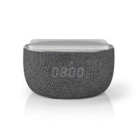 Enceinte Bluetooth® avec Recharge Sans Fil | 30 W | Jusqu'à 6 heures d'Autonomie | Réveil | Grise
