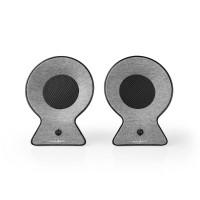 Enceinte Bluetooth® en tissu | 2x 15 W | Autonomie en utilisation jusqu'à 4 heures | Stéréo sans fil (True Wireless Stereo, TWS)