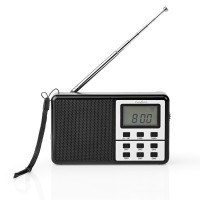 Radio FM | 1,5 W | Récepteur Monde | Réveil | Noir