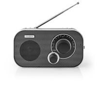 Radio FM | 1,5 W | Poignée de Transport | Argent/Noire