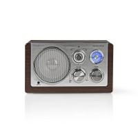 Radio FM   9 W   Réglage Analogique   Design rétro   Brun