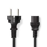 Câble d'Alimentation   Schuko Mâle - CEI-320-C13   2,0 m   Noir