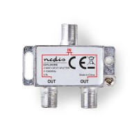 Répartiteur F CATV | Atténuation Max. de 4,2 dB | 5 - 1 000 MHz | 2 Sorties