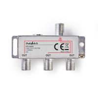 Répartiteur F CATV | Atténuation Max. de 6,8 dB | 5 - 1 000 MHz | 3 Sorties