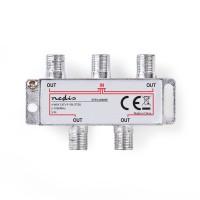 Répartiteur F CATV | Atténuation Max. de 8,0 dB | 5 - 1 000 MHz | 4 Sorties