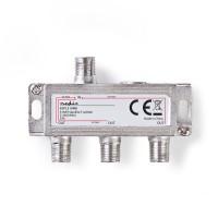 Répartiteur F Satellite | Atténuation Max. de 10,5 dB | 5 - 2 400 MHz | 3 Sorties