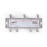 Répartiteur F Satellite | Atténuation Max. de 17.5 dB | 5 - 2 400 MHz | 6 Sorties