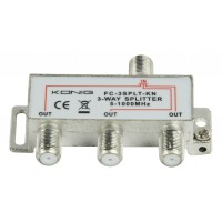 3-way CATV F-splitter
