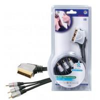 3 x Cable RCA de haute qualité SCART de 1.5 m