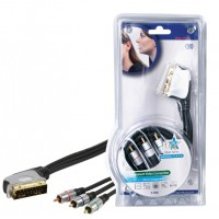 Haute qualité SCART - 3x RCA component connection cable 1.50 m