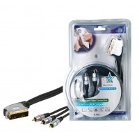 Haute qualité SCART - 3x RCA component connection cable 2.50 m