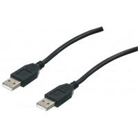 cable USB A-A haut débit noir 1.80 m