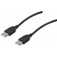 Câble USB haut débit, A-A, noir, 5.00 m