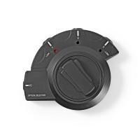 Commutateur Audio Numérique | 3x TosLink femelle - TosLink femelle | Noir