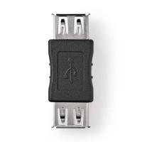 Adaptateur USB 2.0 | A Femelle - A Femelle | Noir