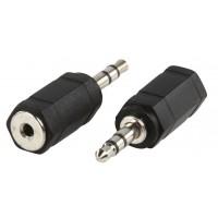 Adapter fiche 3.5mm fiche stéréo 2.5mm stéréo Prise