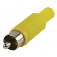 Prise RCA avec câble de protection jaune