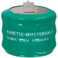 Pack accus NiMH 3.6 V 170 mAh