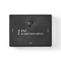 2 Ports | Commutateur DVI Bidirectionnel | Noir