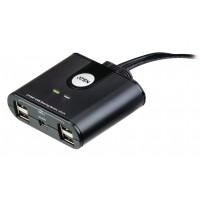2-Port Commutateur USB Noir