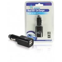 Chargeur USB double pour voiture.