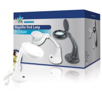 Lampe loupe de table blanche